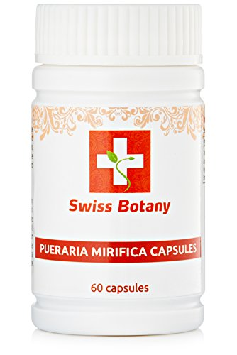 Pueraria Mirifica Capsules Natural Breast Enlargement & Firmness Pills - Swiss Botany | ** 60 Capsules **