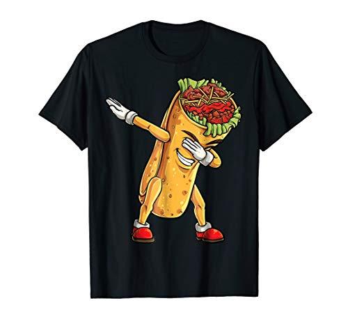 Dabbing Burrito T Shirt Cinco de Mayo Kids Boys Men Women -