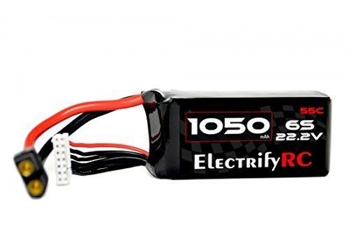 1050MAH 22.2V 6S 55C PRO RACING EDITION LIPO BATTERY (XT-60)