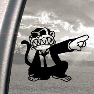 Pegatina para coche, diseño de mono, color negro Avery