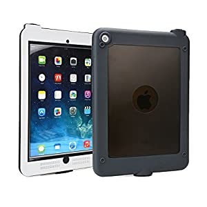 iPad Air 2/iPad 9.7 2017 Waterproof case, COOPER SUBMARINE Water Resistant IP68 Outdoor Rugged Heavy Duty Tough Durable Shockproof Protective Case Cover with Screen Protector (White)