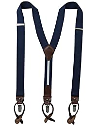 Tommy Hilfiger Men's 32mm Suspender With Convertible Clip, Button End and Strap