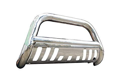 (Span Bull Bar Skid Plate Front Push Bumper Grille Guard Stainless Steel Chrome for 1995-1999 GMC Yukon Chevrolet Tahoe 1992-1999 Chevrolet Suburban 1992-1994 Chevrolet Blazer,GMC Jimmy Full Size)
