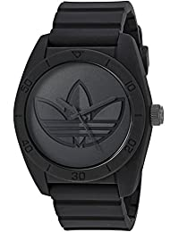 adidas Men's 'Santiago' Quartz Rubber and Silicone Casual Watch, Color Black (Model: ADH3199)