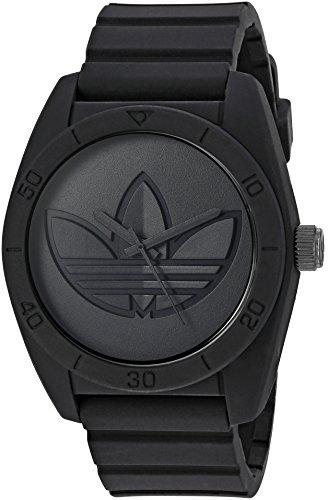 adidas Men's 'Santiago' Quartz Rubber and Silicone Casual Watch, Color:Black (Model: ADH3199) - Adidas Watches For Men