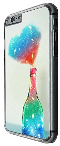1408 - Cool Fun Trendy cute kwaii valentines day heart love quote love colourful bottle Design iphone 4 4S Coque Fashion Trend Case Coque Protection Cover plastique et métal - Clear