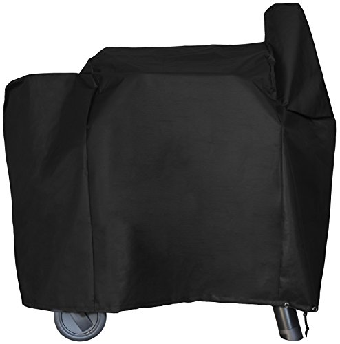 BBQ Butler Full Length Grill Cover - Fits Traeger 22 Series and Lil' Tex - Heavy Duty Smoker Cover - Black