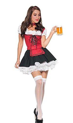 German Beer Garden Girl Costume (Sexy Beer Girl Costume - Women's Oktoberfest German Beer Garden Costume Dress)
