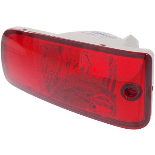 Diften 168-C4812-X01 - New Bumper Face Bar Reflector Light Lamp Rear Driver Left Side LH Hand (Lamp Lh Bumper)