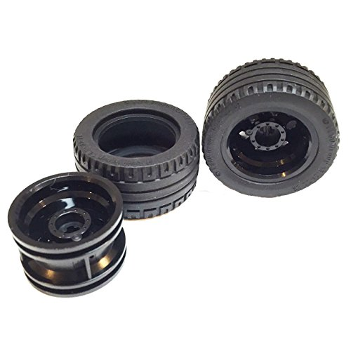 lego-parts-racer-wheels-tire-and-rim-bundle-2-black-432mm-x-22mm-zr-tires-2-black-304mm-x-20mm-wheel