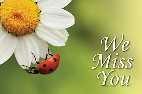 We Miss You Ladybug Postcard (Pkg of 25)