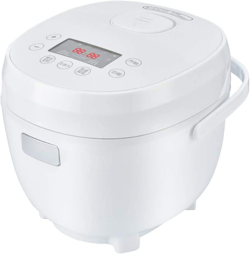 GAYBJ Rice Cooker Rice Cooker and Steamer (2L/400W/220V) Premium-Quality Inner Pot with Ceramic Coating, Spatula and Measuring Cup Rice for up to 3~6 People
