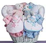 Moon & Stars Baby Gift Basket for Twins-Boy/Girl