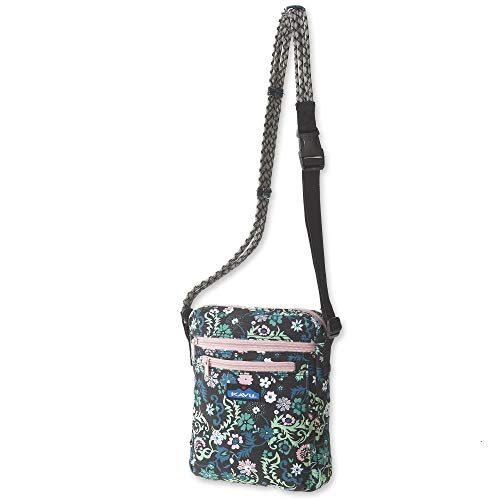 KAVU Zippit Crossbody Bag With Adjustable Rope Strap - Whimsical Meadow
