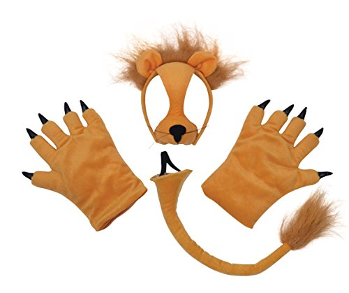 Bristol Novelty DS138 Lion Costume Accessory Set, One Size -
