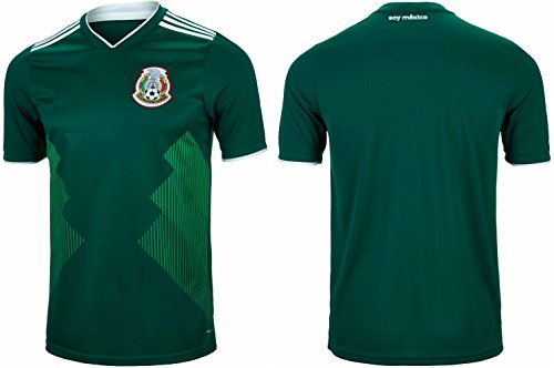 833350cbb164f Mexico Soccer Jersey Men's Adult Home/Away World Cup Short Sleeve (XL, Home)