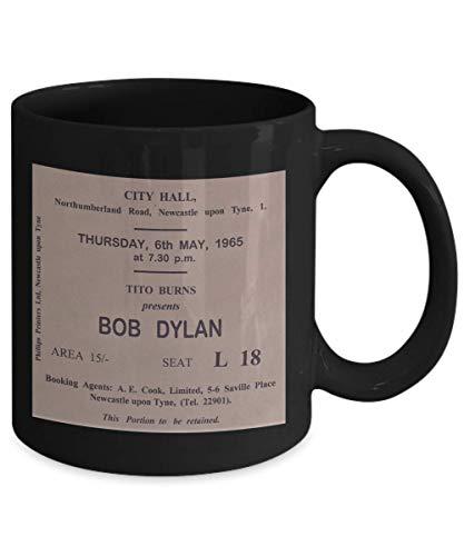 (Bob Dylan fans vintage rock music memorabilia concert ticket collector coffee mug)