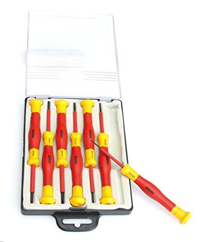 BOOHER 0200203 7-Piece 1000V Insulated Precision Pico Screwdrivers - Set 7 Piece Precision