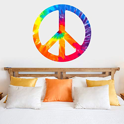 - Peace Sign Symbol Tie Dye Removable Vinyl Wall Decal Sticker Graphic