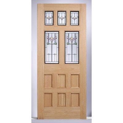 Knightsbridge Tulip Oak Double Glazed Exterior Door Amazon Co Uk