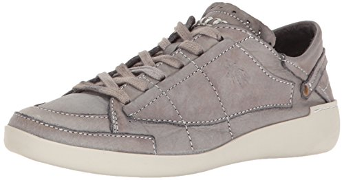 Sneaker Moda Tether240fly Fly London In Pelle Tinta Grigio Scuro