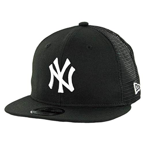 New Era 9Fifty New York Yankees Black White Trucker Snapback Hat (BK) MLB Cap