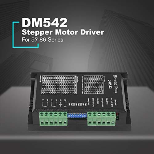 Pandamama DM542 Stepper Motor Driver Controller for 57 86 Series 2-Phase Digital Stepper Motor Driver DC 24-60 V 4.5A Durable