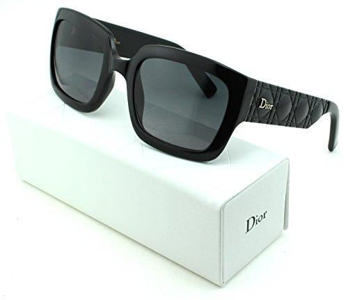 Dior Mydior/1N Square Women Sunglasses (Shiny Black Frame, Grey Gradient Lens - Made Sunglasses In Italy Dior