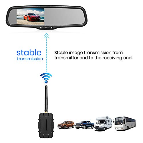 Auto Vox Tw Wireless Backup Camera Kit Rearview Mirror