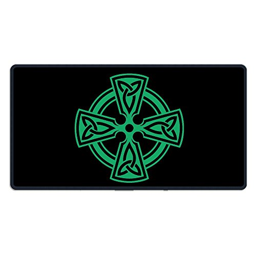 Celtic Cross Knot Irish Shield Warrior - Gaming Mouse Pad Computer Mouse Pad Mousepad With Non-Slip PU Base Mouse Mat 1530 Inch (Celtic Warrior Knot)
