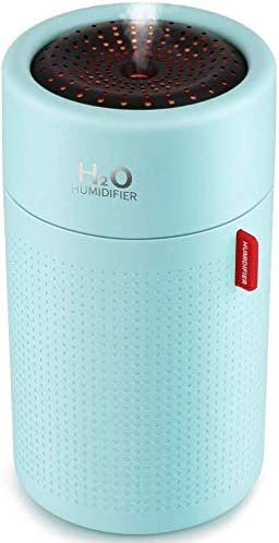 Alagoon Mini Portable Cool Mist Humidifier with USB Rechargeable and Adjustable Mode, Suitable for Bedroom, Office, Car, Camping Tent, Automatic Shut-Off, Super Quiet Operation