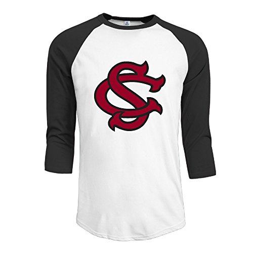 GUC Men's 3/4 Sleeve T-shirts - University South Carolina Baseball Black XXL (Skylanders Trap Team Building)