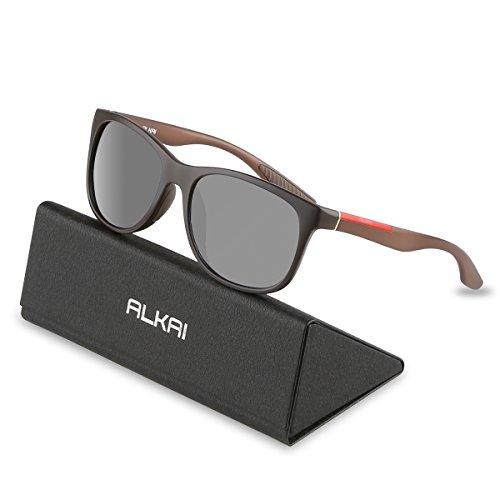 Cheap ALKAI Polarized Sunglasses for Men Women Phoenix Cycling Sunglasses for Casual Golfing Driving Running Fishing,100% UV400 Protection Ultralight