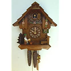1-Day Black Forest House and Flowers Cuckoo Clock