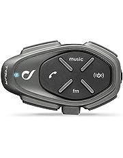 Interphone Cellularline TOUR | Motorfiets Bluetooth Communicatiesystemen - 4 motorrijders 1,5Km - Een Gespreksduurtijd van 25 uur, FastCharger - Radio RDS, Music, Gps, Mobile - Single