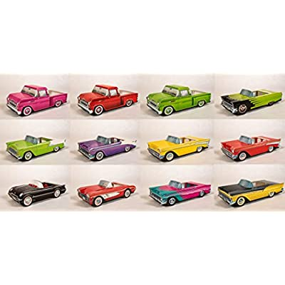 50s Party Decorations, Classic Car Collection from the 1950s Table Centerpieces/Food Trays, Includes 36 Pieces: Toys & Games
