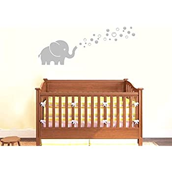 Amazoncom MAFENT Two Lovely Elephants Blowing Bubbles Face To - Elephant wall decalsamazoncom elephant bubbles wall decal nursery decor baby