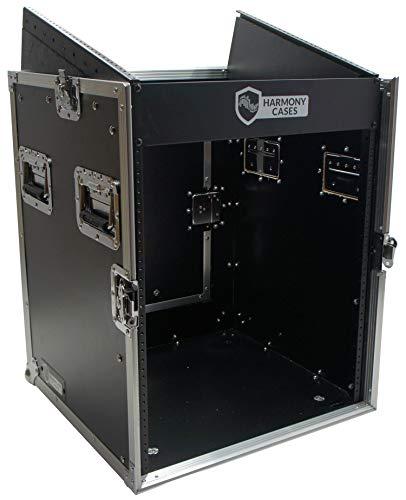 Harmony Case HCM12U DJ Pro Audio 10U Slant Top 14U Vertical Mixer Rack Case New