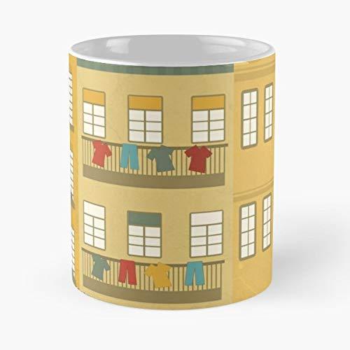 (Portugal Vintage Green - Ceramic Mugs)