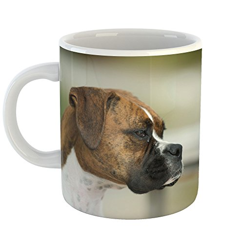 Westlake Art - Dog Boxer - 11oz Coffee Cup Mug - Modern Picture Photography Artwork Home Office Birthday Gift - 11 Ounce (5673-24E49)