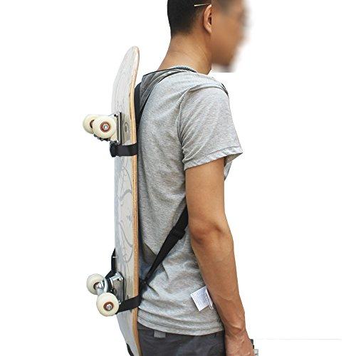 YYST Skateboard Shoulder Carrier Skateboard Backpack Strap Skateboard Backpack Carrier - No Skateboard