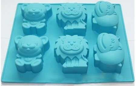 Soap Mold - Jungle Zoo Animal Chocolate Cupcake Candy Soap Mold Pan Silicone Kids Gift - Mermaid Kids Ring Ocean Molde Tube Rectangular Angel Honeycomb Butterfly Honey Easter Bird Unicorn Drago