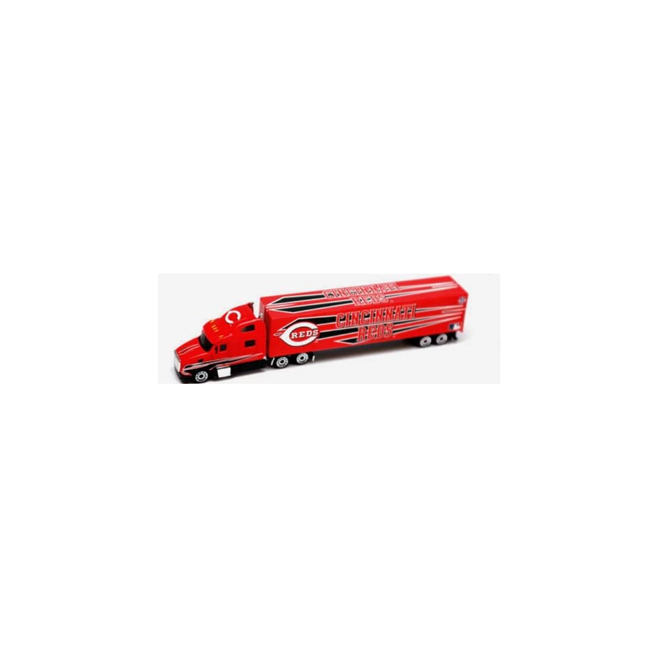 2009 CINCINNATI REDS MLB Baseball Semi Truck Tractor Trailer Diecast Collectible 1/80 Scale By Press Pass Collectible