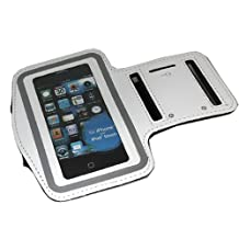 ASleek Gym Sport Running Armband Case for iPhone 3G/3GS/4/4S - White