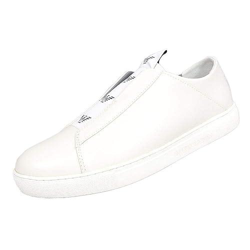 4157d15ca51f Emporio Armani - Zapatillas para Hombre Blanco Blanco  Amazon.es  Zapatos y  complementos