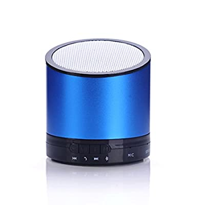iManson Mini Portable Wireless Bluetooth Speakers with Bass Speakerphone Hands free Microphone Support TF Card For Apple Android (Blue,N6) from iManson