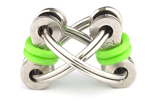 Tom's Fidgets Flippy Chain Fidget Stress Reducer Toy - Green - 2