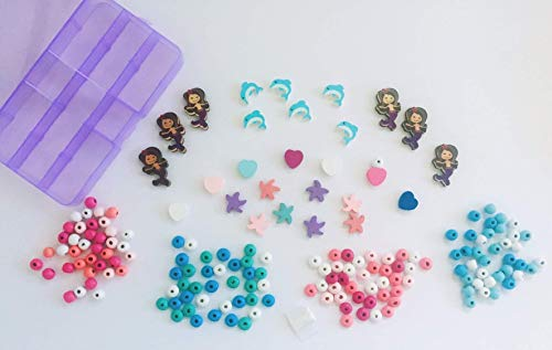 Mermaid Bracelet Kit, Wooden Beads, Jewelry Making, Charm, Gift for Girls from HappyPeople