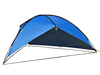 Oxking Outdoor 5-8 People POP UP Canopy Large Triangular Beach Sun Shelter Pergola UV Protection Camping Fishing Festival Tents Awning
