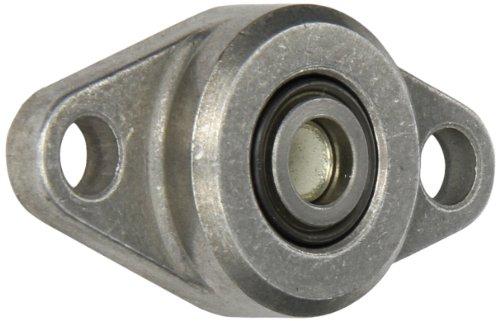 Spyraflo HF2-6M-LT Aluminum 2-Bolt Hole, Housing-Flange with a 6 millimeter Inner-Diameter, Self-Aligning, High Performance PTFE Impregnated Bronze - Inner Flange Diameter Housing
